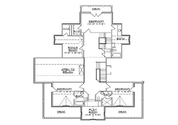 Victorian Floor Plan - Upper Floor Plan Plan #5-441