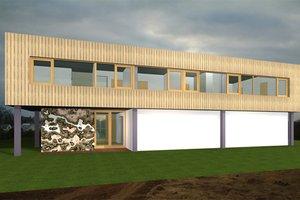 Modern Exterior - Front Elevation Plan #520-1