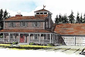 Dream House Plan - Country Exterior - Front Elevation Plan #315-122