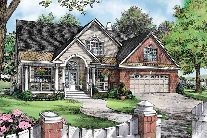 Dream House Plan - Country Exterior - Front Elevation Plan #929-888