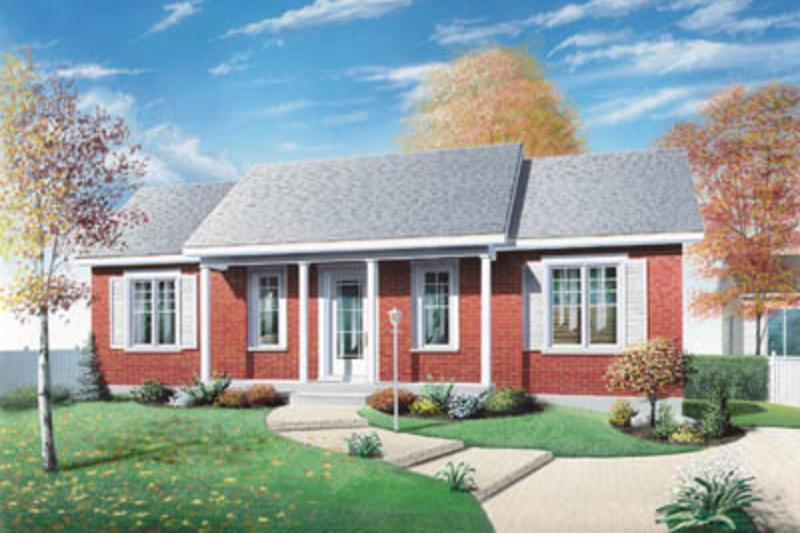 Colonial Exterior - Front Elevation Plan #23-103 - Houseplans.com