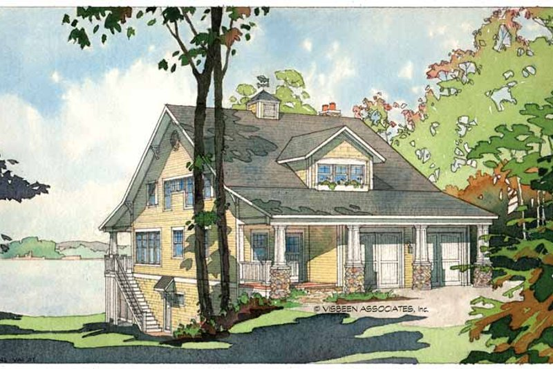 Bungalow Exterior - Front Elevation Plan #928-22