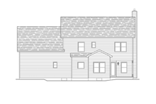 Colonial Exterior - Rear Elevation Plan #1010-53