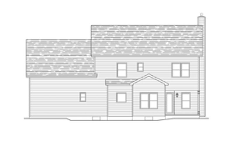 Colonial Exterior - Rear Elevation Plan #1010-53 - Houseplans.com