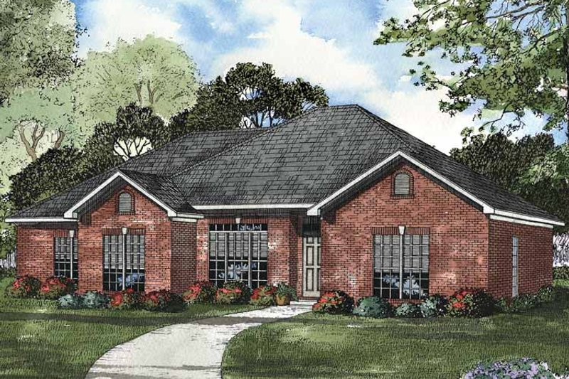 Ranch Exterior - Front Elevation Plan #17-2982 - Houseplans.com