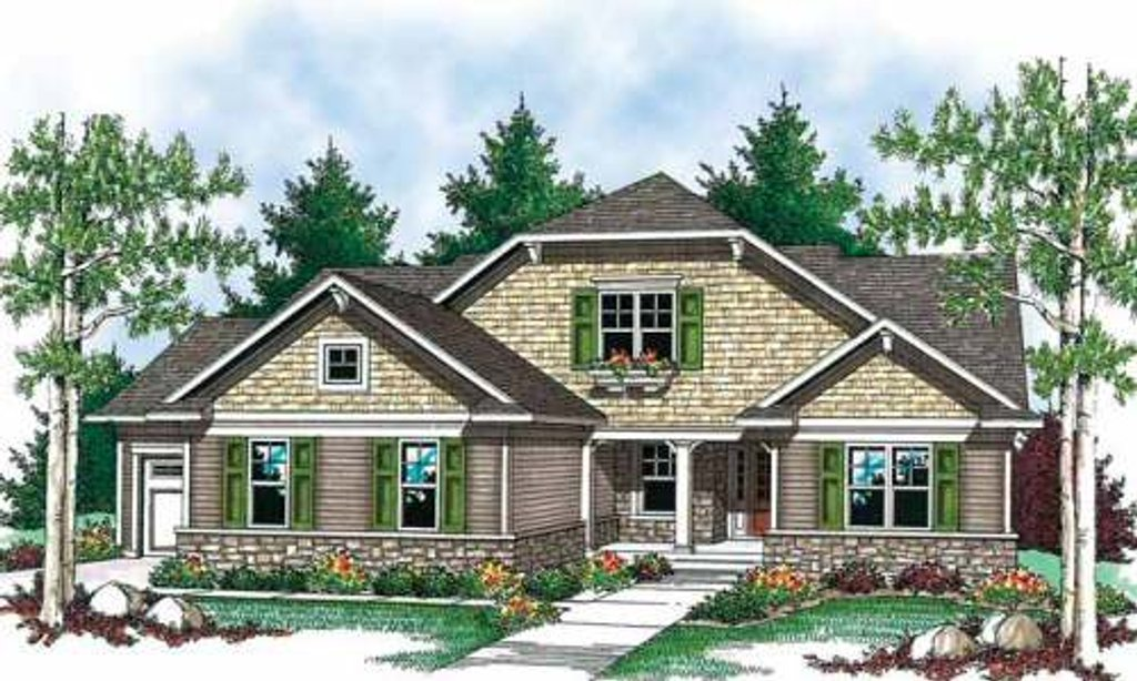 Craftsman Style House Plan - 2 Beds 2 Baths 1508 Sq/Ft Plan #70-902