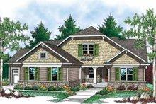 Dream House Plan - Craftsman Exterior - Front Elevation Plan #70-902