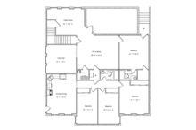 Ranch Floor Plan - Lower Floor Plan Plan #1060-21