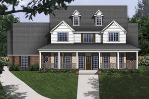 Architectural House Design - Country Exterior - Front Elevation Plan #62-153