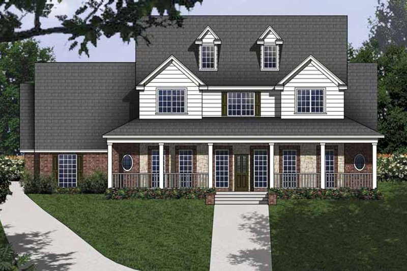 House Plan Design - Country Exterior - Front Elevation Plan #62-153