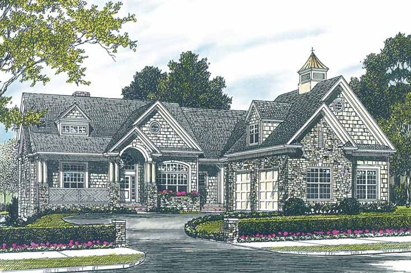 Craftsman Exterior - Front Elevation Plan #453-230