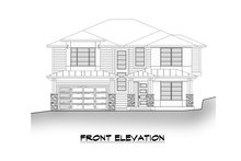 House Blueprint - Contemporary Exterior - Other Elevation Plan #1066-130
