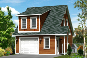 Country Exterior - Front Elevation Plan #25-4438