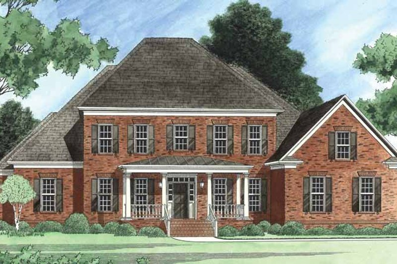 Colonial Exterior - Front Elevation Plan #1054-11