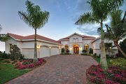 Mediterranean Style House Plan - 3 Beds 3.5 Baths 3877 Sq/Ft Plan #930-447 Exterior - Front Elevation