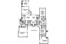 Mediterranean Floor Plan - Main Floor Plan Plan #1058-154