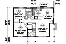 Country Floor Plan - Main Floor Plan Plan #25-4290