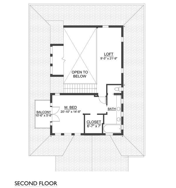 Farmhouse Floor Plan - Upper Floor Plan Plan #890-7