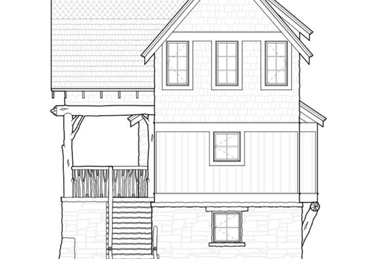 Cabin Exterior - Rear Elevation Plan #928-246 - Houseplans.com