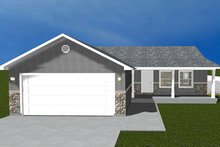 House Plan Design - Ranch Exterior - Front Elevation Plan #1060-16