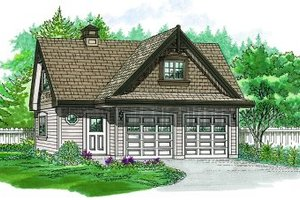 Craftsman Exterior - Front Elevation Plan #47-518
