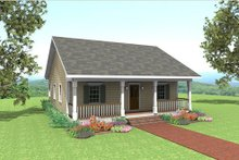 Country Exterior - Front Elevation Plan #44-158