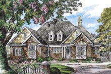 Home Plan - European Exterior - Front Elevation Plan #929-964