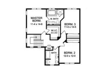 Traditional Floor Plan - Upper Floor Plan Plan #1010-118
