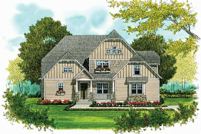 Craftsman Exterior - Front Elevation Plan #413-903