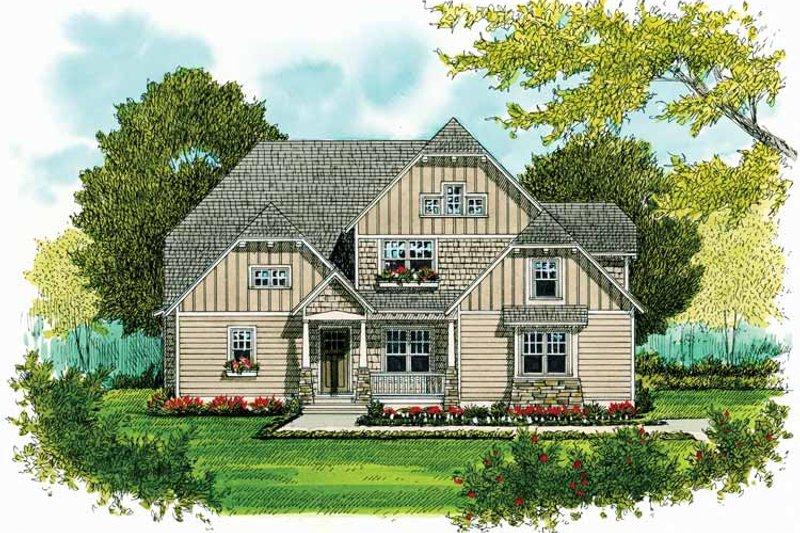 Craftsman Exterior - Front Elevation Plan #413-903