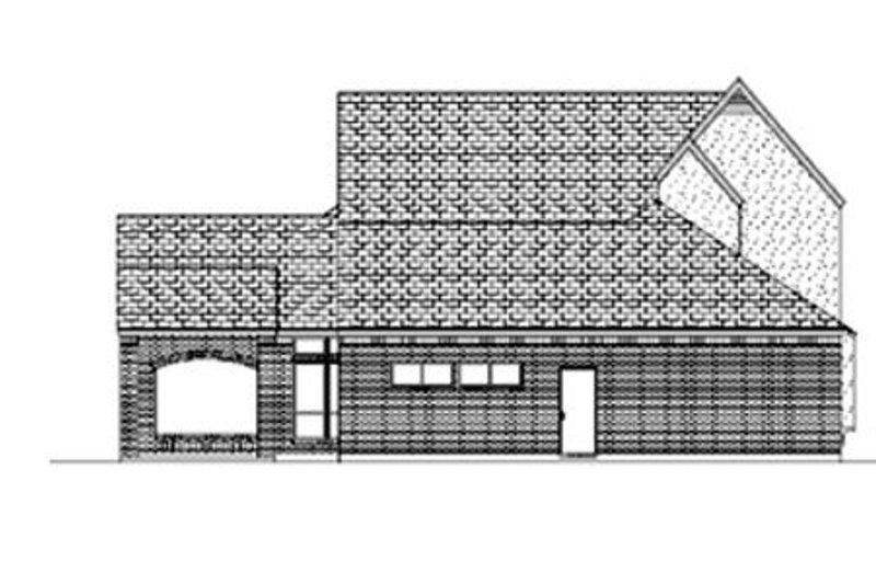 European Exterior - Rear Elevation Plan #84-406 - Houseplans.com