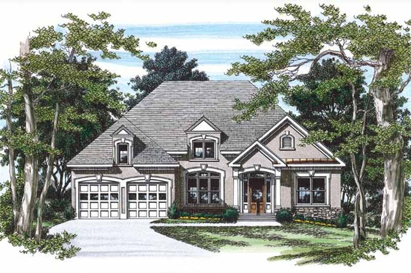 Mediterranean Exterior - Front Elevation Plan #927-232