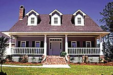 Home Plan - Country Exterior - Front Elevation Plan #36-628