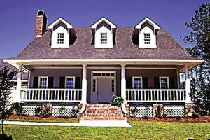 House Plan Design - Country Exterior - Front Elevation Plan #36-628