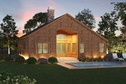 Craftsman Style House Plan - 3 Beds 2 Baths 1768 Sq/Ft Plan #417-826 Exterior - Rear Elevation