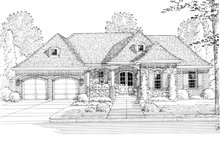Architectural House Design - Country Exterior - Front Elevation Plan #46-820