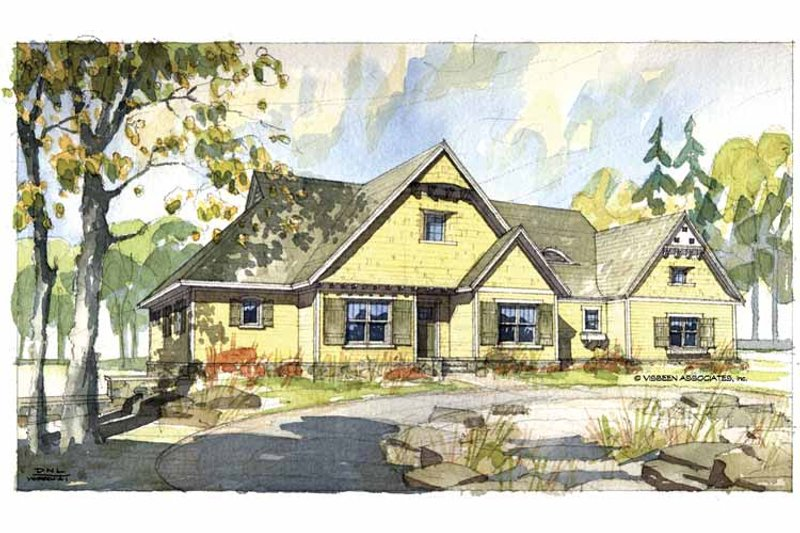 Craftsman Exterior - Front Elevation Plan #928-51