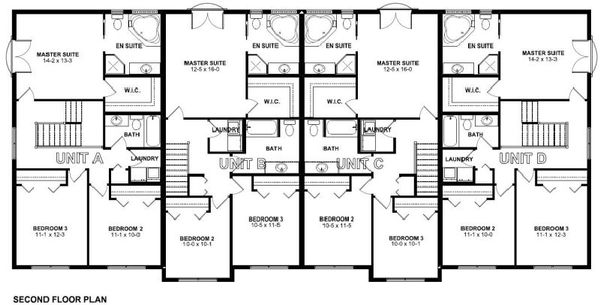 Traditional Floor Plan - Upper Floor Plan Plan #126-165
