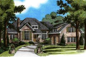 Home Plan - European Exterior - Front Elevation Plan #991-21