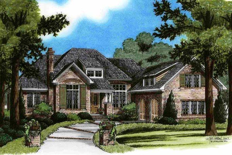 Architectural House Design - European Exterior - Front Elevation Plan #991-21