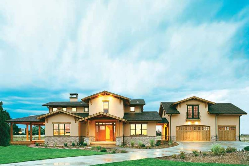 Craftsman Exterior - Front Elevation Plan #1042-1 - Houseplans.com