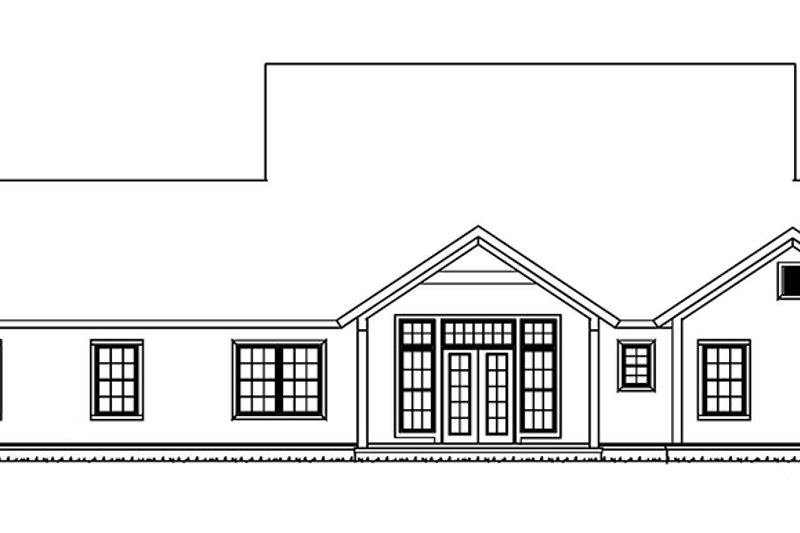 Traditional Exterior - Rear Elevation Plan #513-2158 - Houseplans.com
