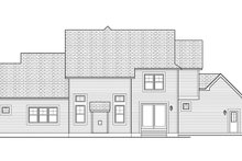 Home Plan - Colonial Exterior - Rear Elevation Plan #1010-112