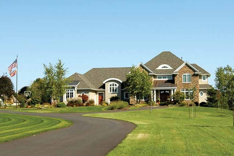 European Exterior - Front Elevation Plan #928-101 - Houseplans.com