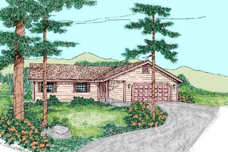 Ranch Exterior - Front Elevation Plan #60-446 - Houseplans.com