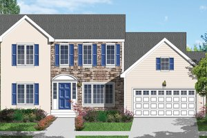 Dream House Plan - Traditional Exterior - Front Elevation Plan #1053-39