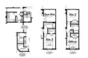 Traditional Style House Plan - 1 Beds 2 Baths 2083 Sq/Ft Plan #20-2307 Floor Plan - Other Floor