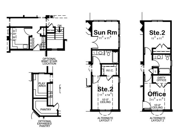 House Plan Design - Alternate Floorplan Options