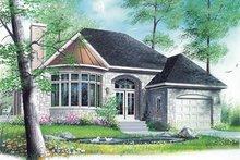 House Plan Design - European Exterior - Front Elevation Plan #23-128