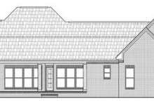 European Exterior - Rear Elevation Plan #21-257